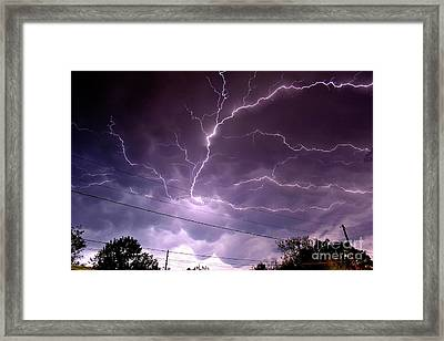Cloud Crawler Framed Print by Brian Kalbe