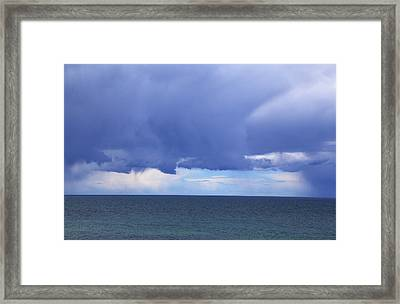 Framed Print featuring the photograph Cloud Curtain by Nareeta Martin