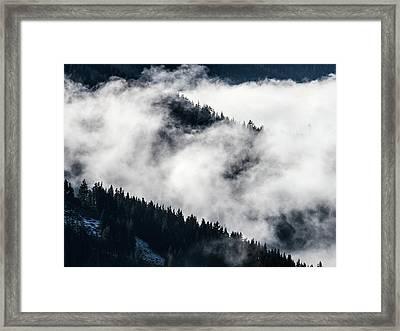 Cloud Detail Framed Print