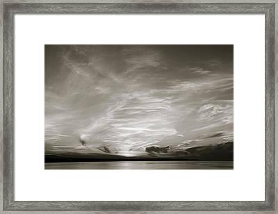 Cloud Drama Bw Framed Print
