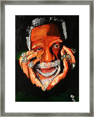 Cloud Eleven - Bill Russell Framed Print by Saheed Fawehinmi