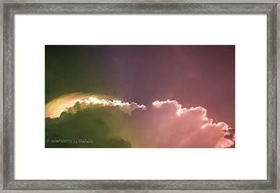 Cloud Eruption Framed Print by Stefanie Silva