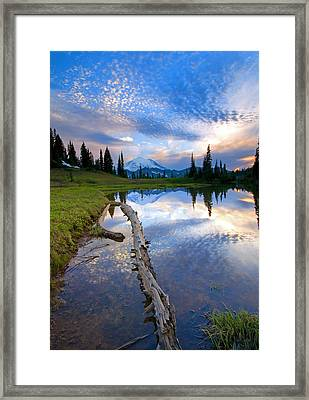 Cloud Explosion Framed Print by Mike  Dawson