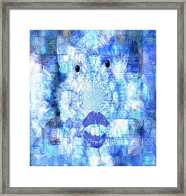 Cloud Face Framed Print by Fania Simon