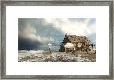 Cloud Farm Framed Print by Cynthia Decker