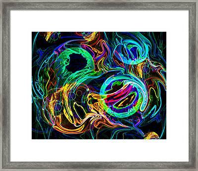 Cloud Fire Framed Print by Lynda Lehmann