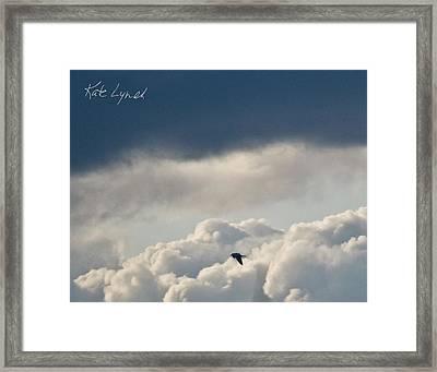 Cloud Flyer Framed Print