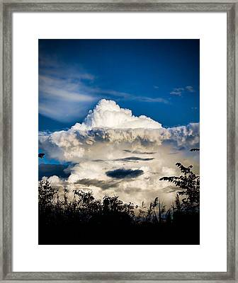 Cloud Formation Framed Print by Michel Filion
