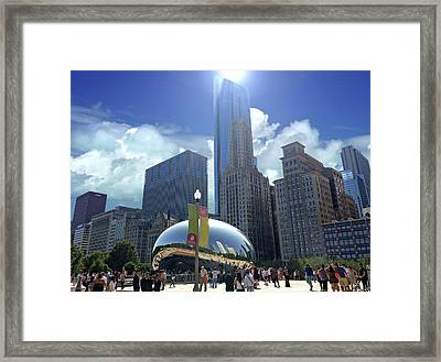 Cloud Gate In Chicago Framed Print