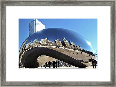 Cloud Gate In The Sun Framed Print by Sheryl Thomas