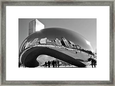 Cloud Gate Framed Print by Sheryl Thomas