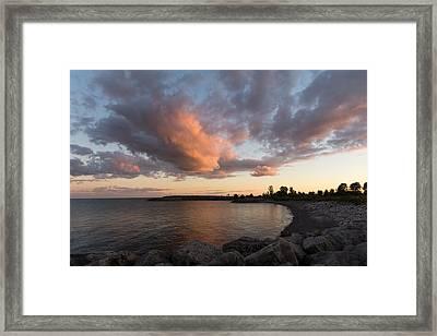 Cloud And Cove Framed Print by Georgia Mizuleva