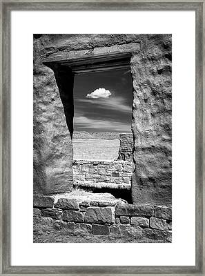 Cloud In The Window Framed Print by James Barber