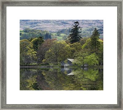 Cloud Inversion Landscape Old Man Of Coniston With Forest In For Framed Print by Matthew Gibson