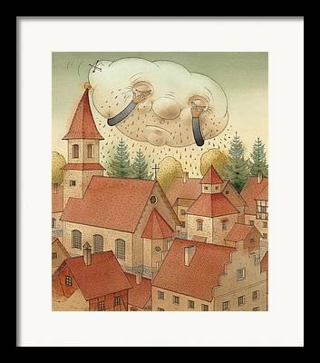 Rain Drawings Framed Prints
