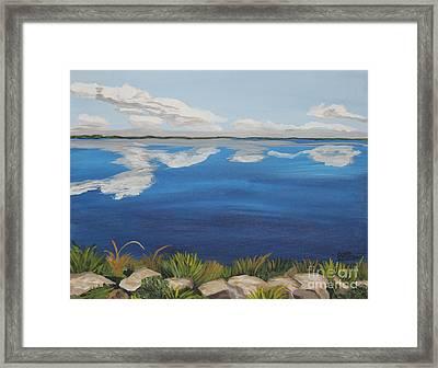 Cloud Lake Framed Print