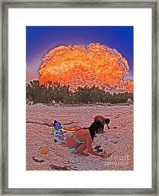 Cloud Lighted By Internal Lightnings 6211168 Framed Print by Rolf Bertram