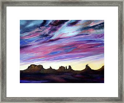 Cloud Movement Framed Print