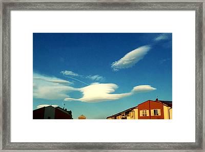 Cloud Framed Print by Niki Mastromonaco