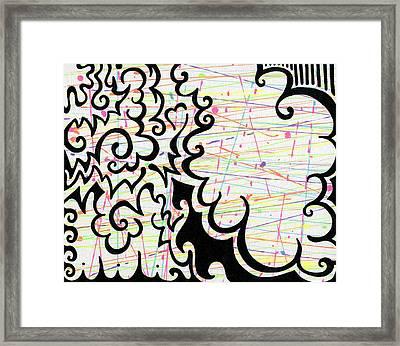 Cloud Of Colors Framed Print by Mandy Shupp