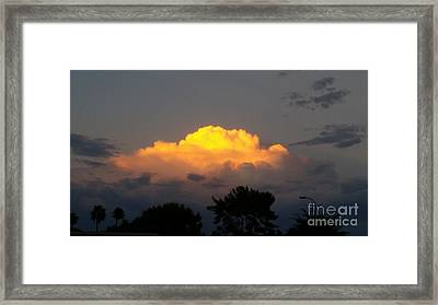 Cloud Of Sun Over Chaparral Lake Framed Print