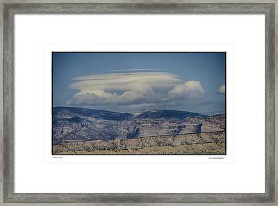 Cloud On Route 6 Framed Print by R Thomas Berner