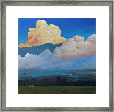 Framed Print featuring the painting Cloud On The Rise by Gary Coleman