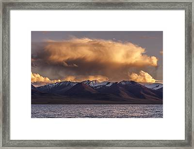 Cloud Over Namtso Framed Print