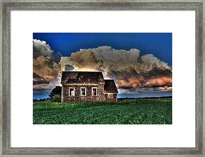 Cloud Over One Room School Framed Print