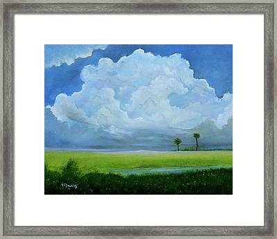 Cloud Over The Lagoon Framed Print