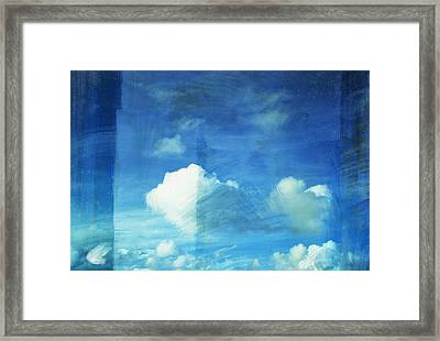 Cloud Painting Framed Print by Setsiri Silapasuwanchai