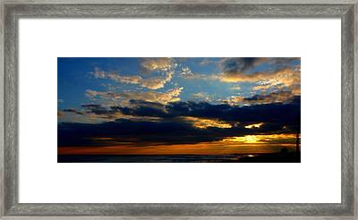 Cloud Party Framed Print by Kevin  Sherf