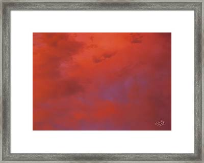 Cloud Patterns 4 Framed Print by Leland D Howard