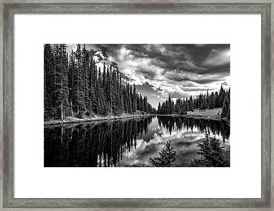 Cloud Reflections Of Lake Irene Framed Print