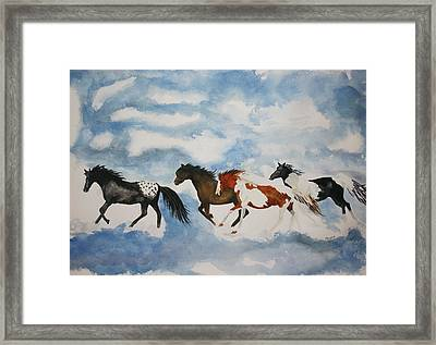 Cloud Runners Framed Print by Michele Turney