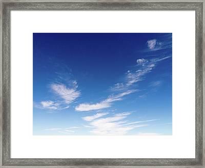 Cloud Sculpting Framed Print