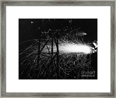 Framed Print featuring the photograph Cloud Seeding, 1948 by Granger