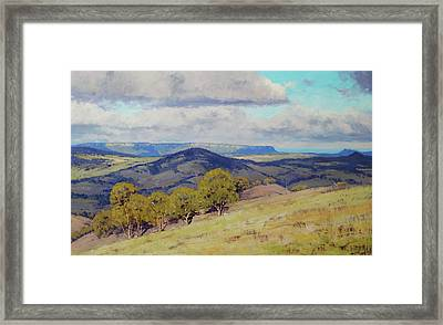 Cloud Shadows Over The Kanimbla Valley Framed Print