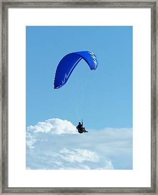 Cloud Sitting Framed Print by Gene Ritchhart