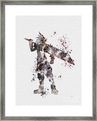 Cloud Strife Framed Print by Rebecca Jenkins