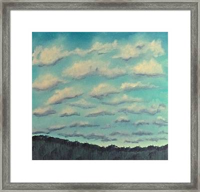 Cloud Study Cropped Image Framed Print