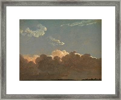 Cloud Study. Distant Storm Framed Print by Simon Denis