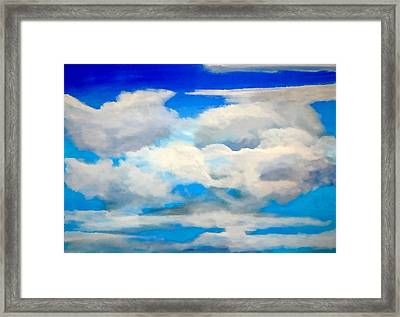 Cloud Study Framed Print by Donna Proctor