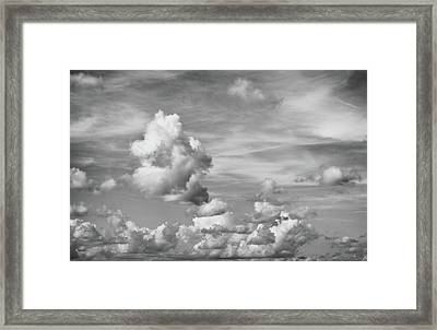 Cloud Study Framed Print by Tom Druin