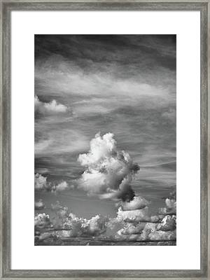 Cloud Study ...vertical Framed Print by Tom Druin