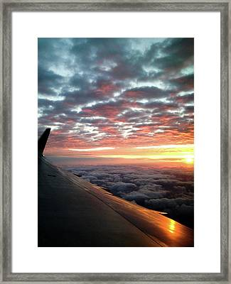 Cloud Sunrise Framed Print