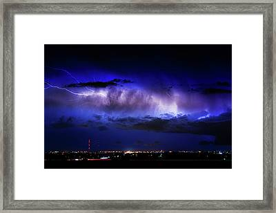 Cloud To Cloud Lightning Boulder County Colorado Framed Print