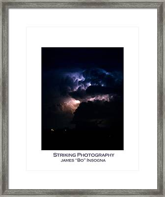 Cloud To Cloud Lightning Photography Poster Framed Print
