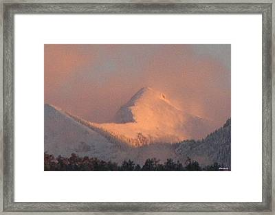 Framed Print featuring the photograph Cloud Veils by Anastasia Savage Ealy