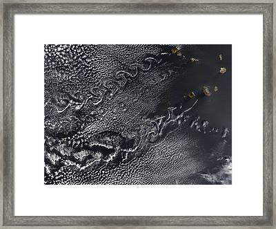 Cloud Vortices Over The Cape Verde Framed Print